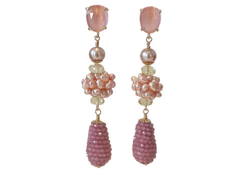 CLASSIC COLLECTION pink earrings