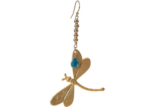 TREND COLLECTION A gold, blue statement earring