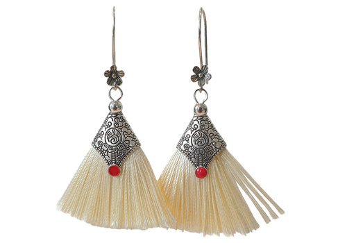 TREND COLLECTION Silver, white earring