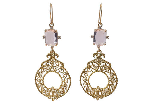 TREND COLLECTION Gold, Pink Earring