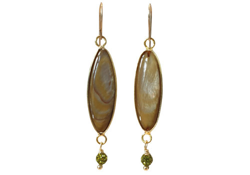 TREND COLLECTION Green, Brown Earring