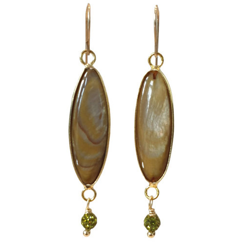 Green, Brown Earring