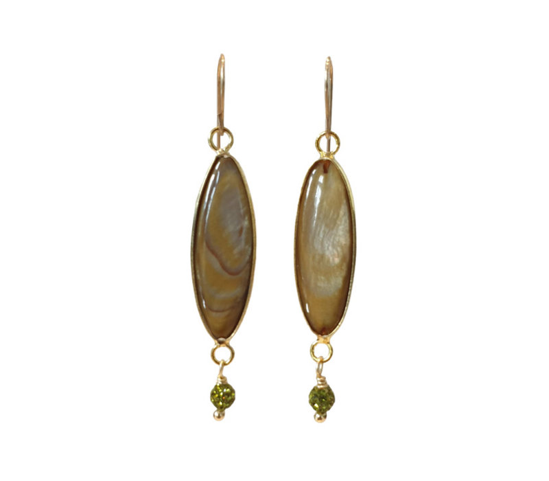 Earrings with Mother of Pearl and Marcasite