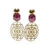 TREND COLLECTION Earrings with Crystal and Bras