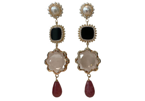 CLASSIC COLLECTION White, Black, Nude Earring