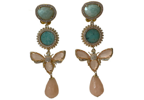 CLASSIC COLLECTION Green, Nude, Pink Earring