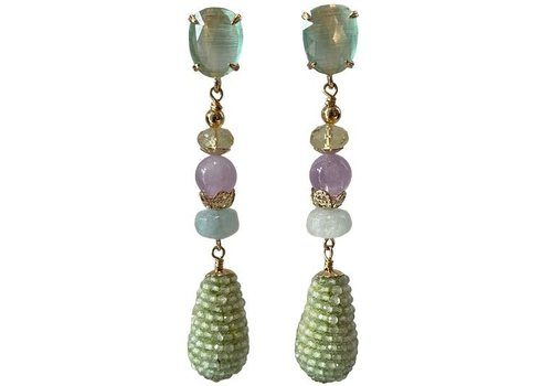 CLASSIC COLLECTION Green, Purple Earring