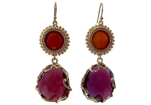 CLASSIC COLLECTION Red, Pink earrings