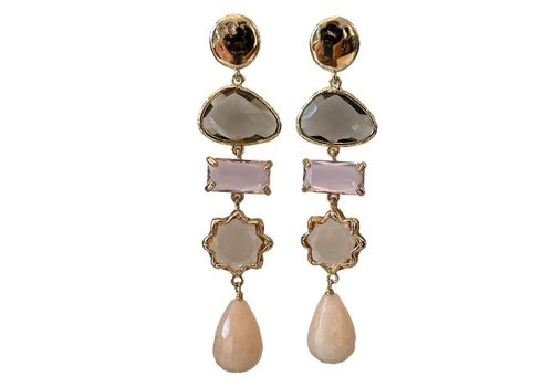 CLASSIC COLLECTION Grey, Purple, Nude Earrings