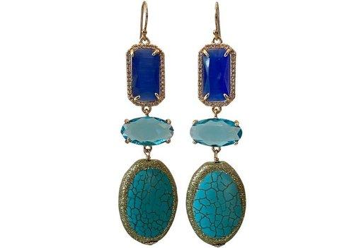 CLASSIC COLLECTION Blue, Aqua earring