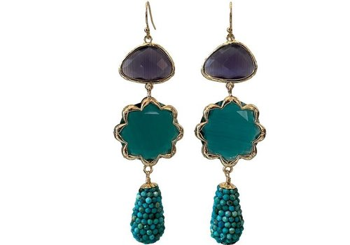 CLASSIC COLLECTION Blue, Green Earrings