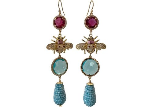 CLASSIC COLLECTION Pink, Aqua Earrings