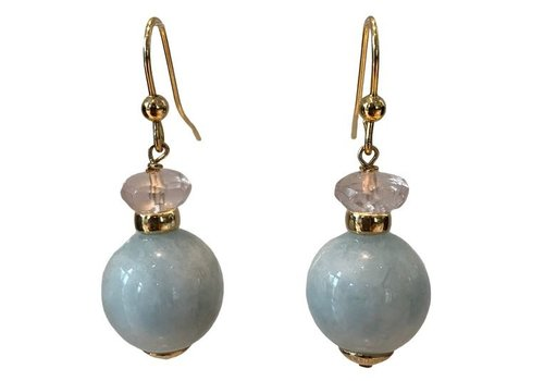 EXCLUSIVE COLLECTION Pink, Light Blue Earring