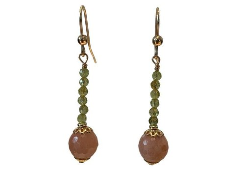 EXCLUSIVE COLLECTION Green, Nude earring