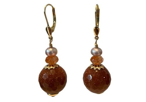 EXCLUSIVE COLLECTION White, Orange, Brown earring