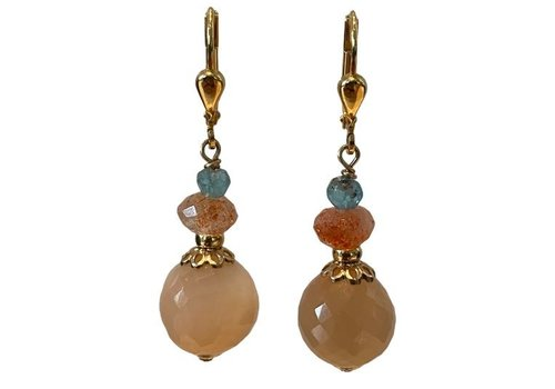 EXCLUSIVE COLLECTION Blue, orange, nude earring