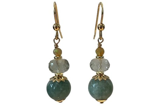 EXCLUSIVE COLLECTION green earring