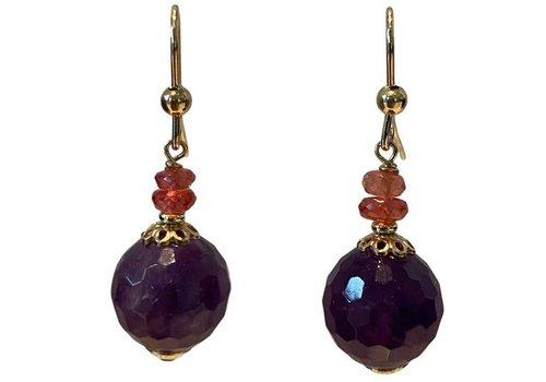 EXCLUSIVE COLLECTION Orange, Purple Earring