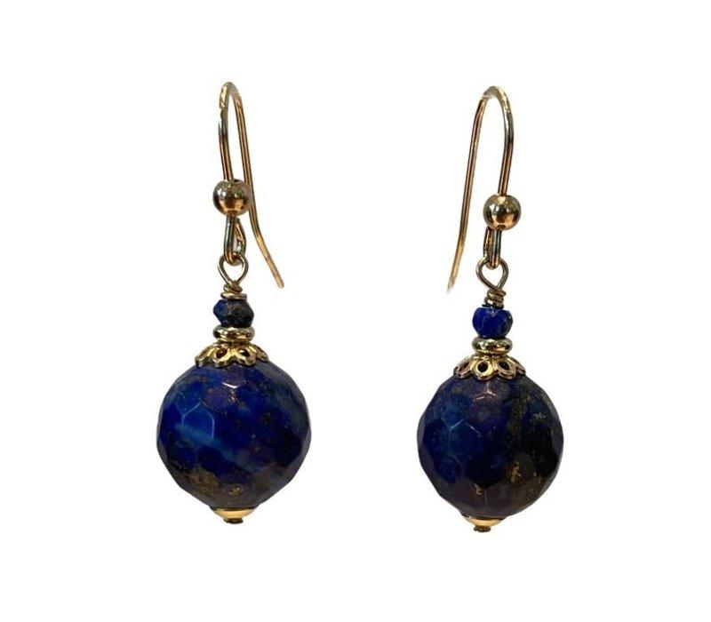 Earrings with Lapis Lazulite