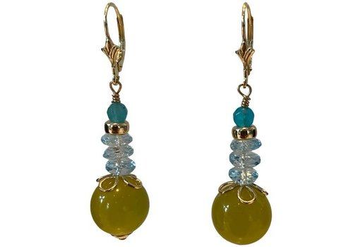 EXCLUSIVE COLLECTION Aqua, green earring