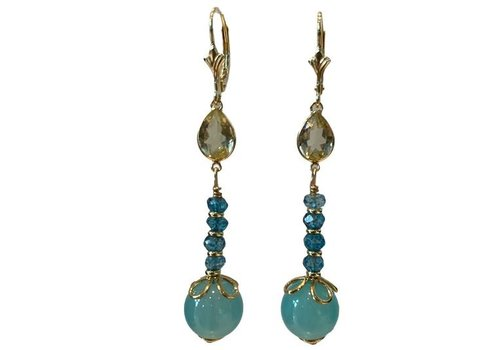 EXCLUSIVE COLLECTION aqua earring
