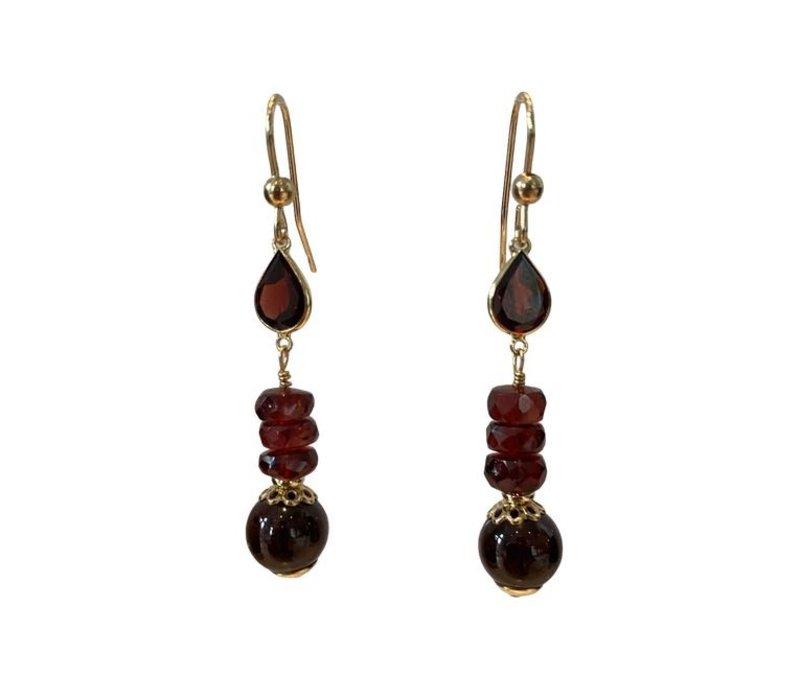 Earrings with Garnet