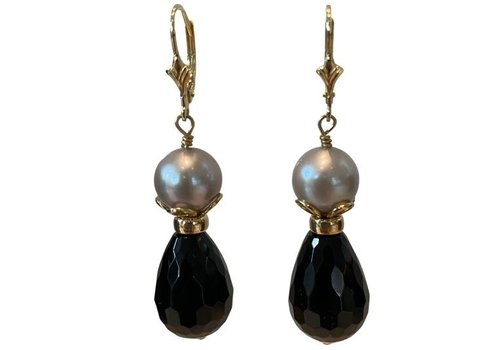 EXCLUSIVE COLLECTION Grey, Black earring