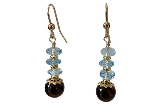 EXCLUSIVE COLLECTION Aqua, Red Earring