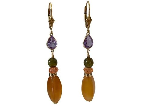 EXCLUSIVE COLLECTION Purple, Green, Orange Earring