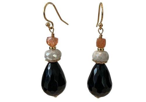 EXCLUSIVE COLLECTION Orange, Grey, Black earring
