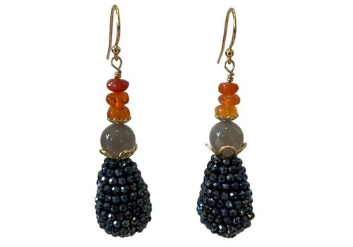 EXCLUSIVE COLLECTION Orange, Grey, Blue earring