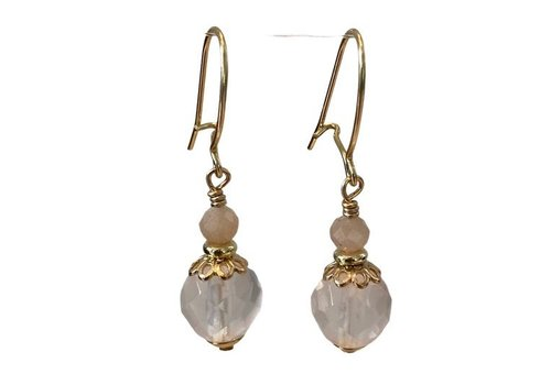 EXCLUSIVE COLLECTION Pink, Nude earring