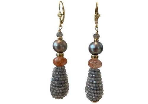EXCLUSIVE COLLECTION Grey, Orange Earring