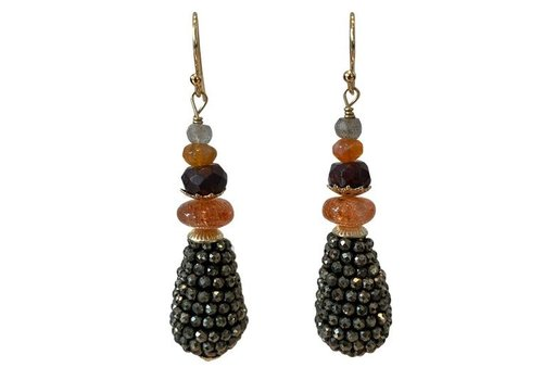 EXCLUSIVE COLLECTION Grey, Orange, Brown Earring