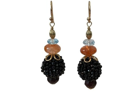 EXCLUSIVE COLLECTION Blue, Orange, Black Earring