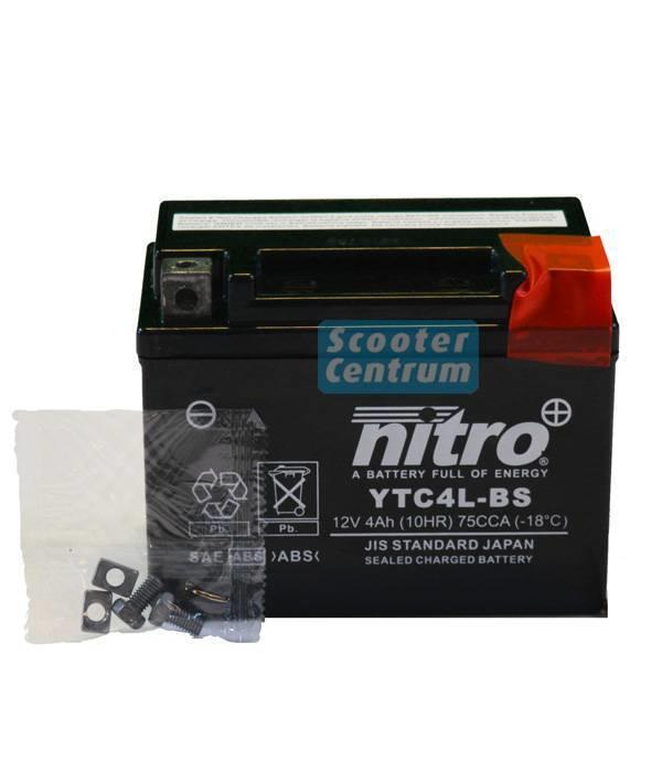 Nitro Kymco RS12 50 2T accu van nitro