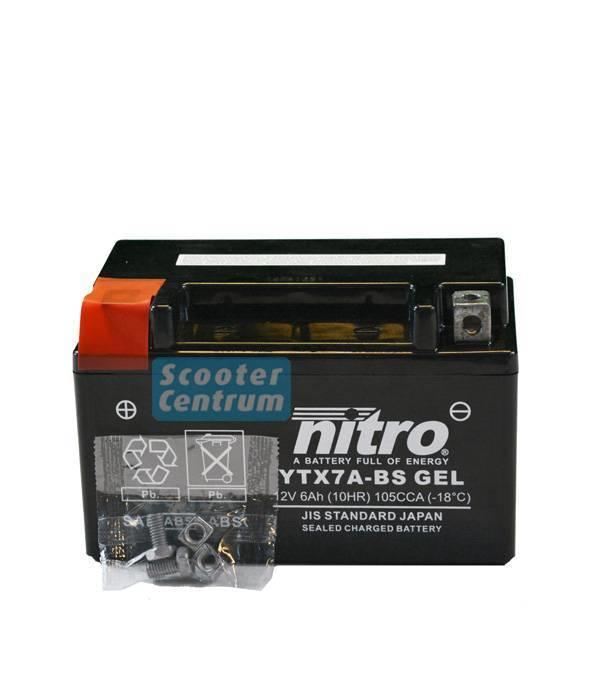 Nitro China scooter Jet Ten 50 4T Accu gel van nitro