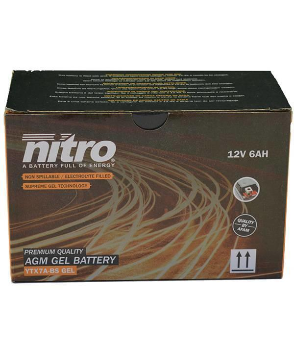 Nitro Kymco Super 8 Street 50 4T Accu gel van nitro