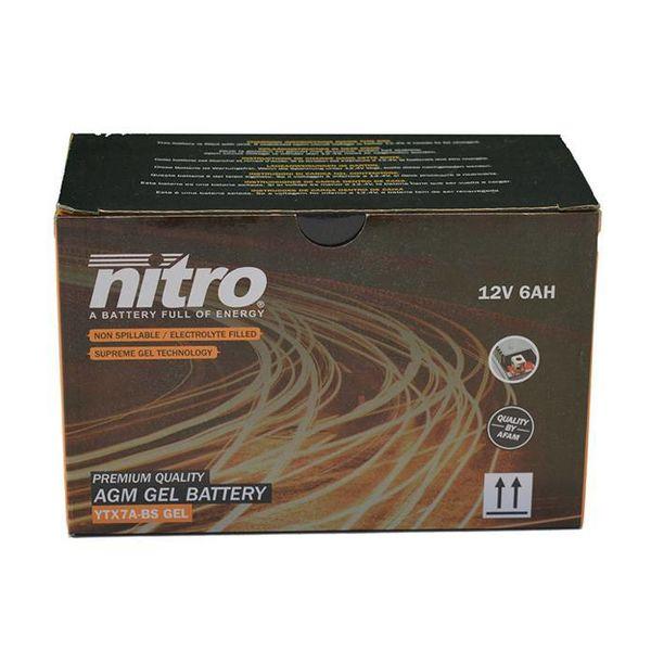 AGM Retro Pimpstyle Plus 50 4T Accu gel van nitro