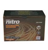 Nitro AGM Retro Black Edition 50 4T Accu gel van nitro