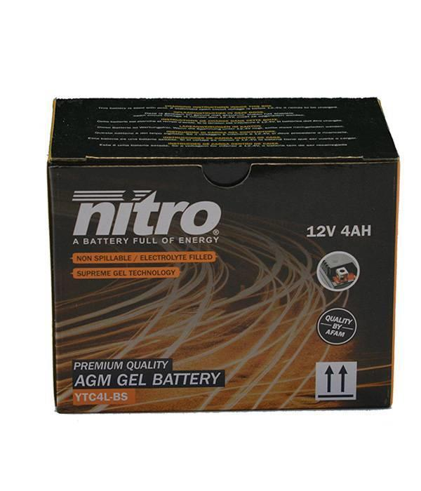 Nitro Aprilia Scarabeo 50 2T accu van nitro