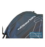 Tucano Urbano AGM LX beschermhoes zwart met windscherm ruimte van Tucano