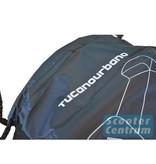 Tucano Urbano AGM Retro Black Edition beschermhoes zwart met windscherm ruimte van Tucano