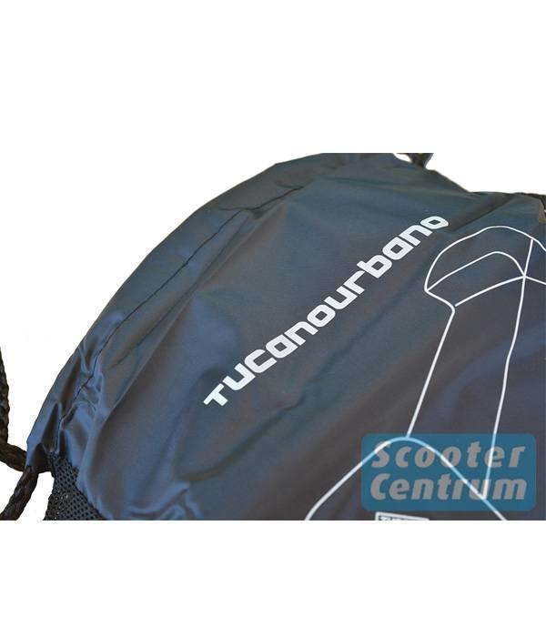 Tucano Urbano AGM Retro Pimpstyle Plus beschermhoes zwart met windscherm ruimte van Tucano