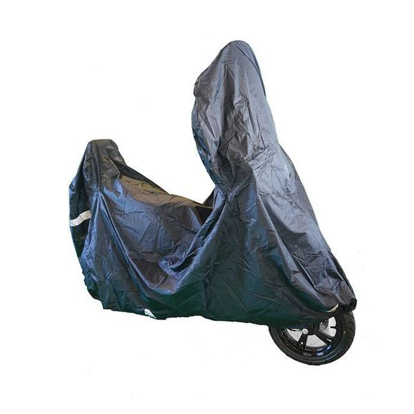 Peugeot Django beschermhoes zwart met windscherm ruimte van Tucano