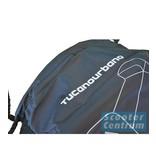 Tucano Urbano Piaggio Zip beschermhoes zwart met windscherm ruimte van Tucano