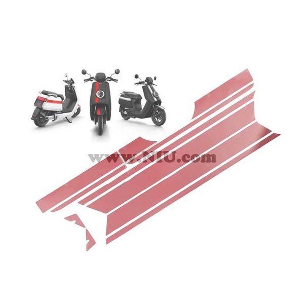 NIU N1S Stickerset striping - Kleur naar keuze