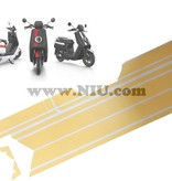 Niu NIU N1S Stickerset Striping Geel