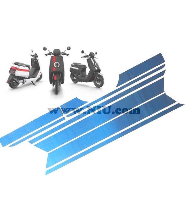 Niu NIU N1S Stickerset Striping Mat Blauw