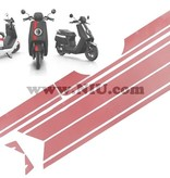 Niu NIU N1S Stickerset Striping Mat Rood